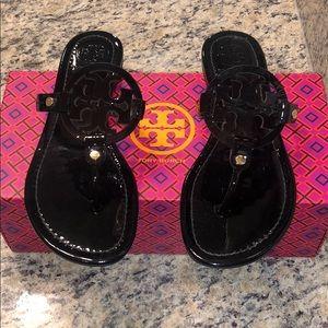 Tory Black Miller Sandals 8.5